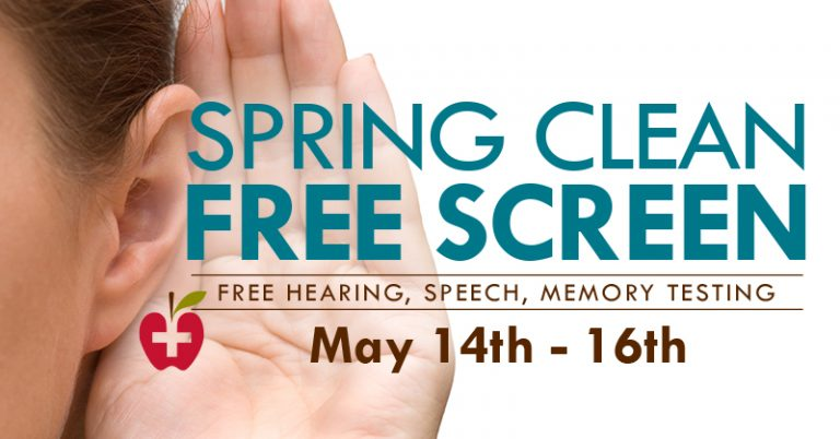 Join JRMC Audiology and Speech-Language Pathology for free hearing, speech and memory screenings on May 14 - 16, 2019.
