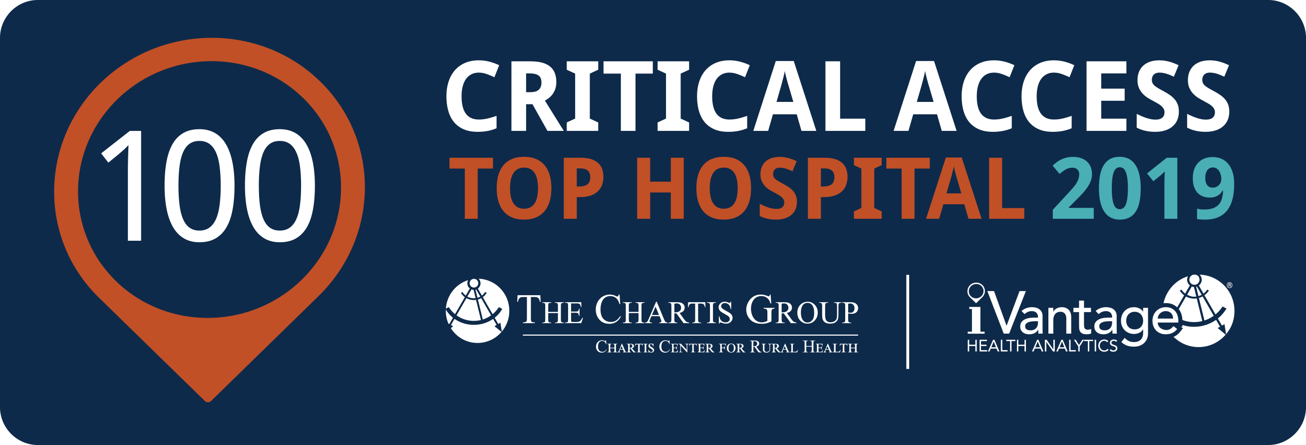 JRMC was named a Top 100 Critical Access Hospital for 2019 by The Chartis Group and iVantage. JRMC has received this distinction since 2014.