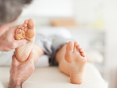If Vitamin D levels are low the bones in a person's feet and ankles may not be strong enough to support the body.