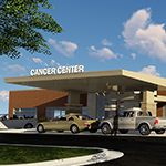 Image rendering of the JRMC Cancer Center, which is slated to open the summer of 2019.