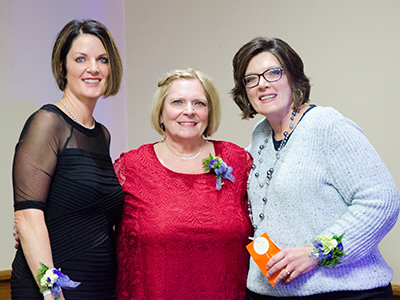 (L to R): Marcie Marler Maier, Marla Wegner and Pamela Enger, as well as other employees and local physicians were recognized for their years of service with JRMC.