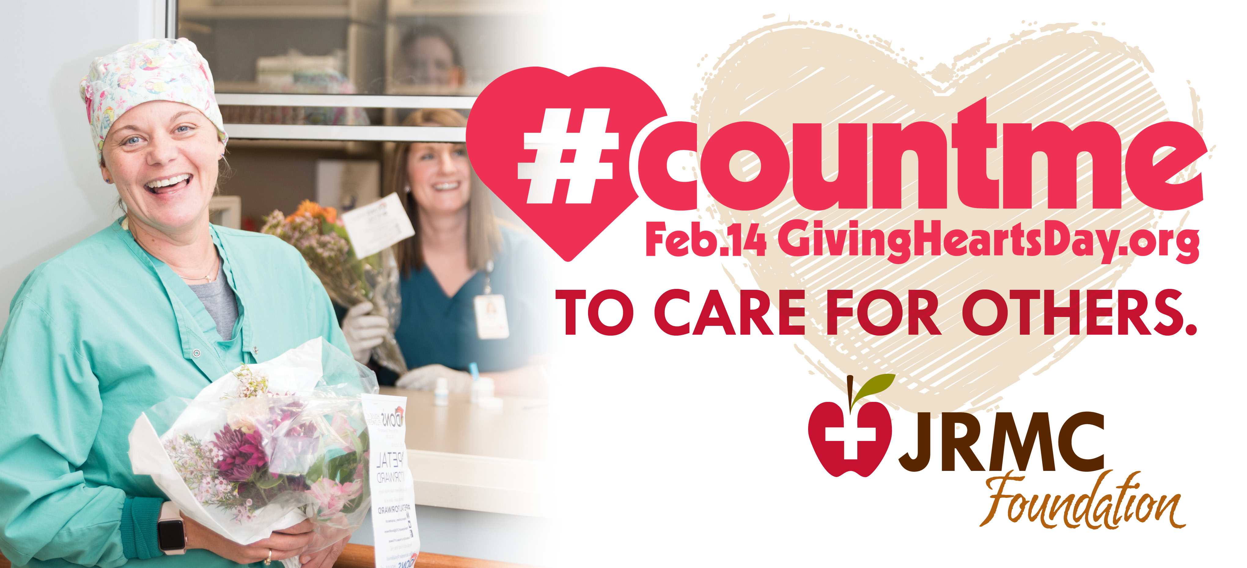 Joint us on Feb. 14 for Giving Hearts Day. Double the love all day on Feb. 14.