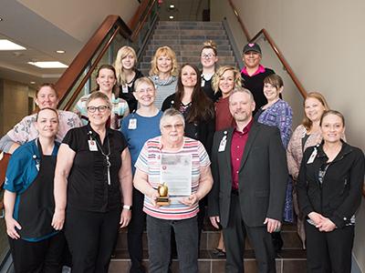 JRMC Nutrition Services, Elayne Hartman, received JRMC's most prestigious award, The Legend Award.