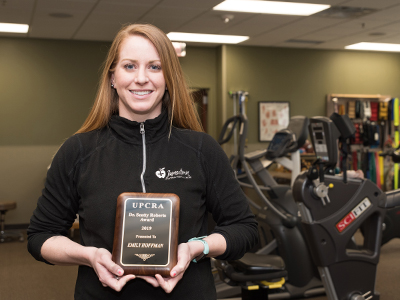 Emily Hoffman, JRMC CardioPulmonary Rehab, received the Scotty Roberts Award.