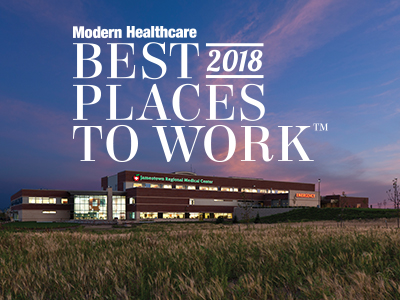 Image. Jamestown Regional Medical Center was named one of the Best Places to Work in Modern Healthcare for 2018.