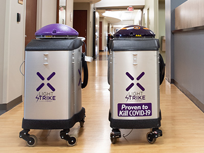 JRMC purchased a second Xenex LightStrike germ-zapping robot to help kill germs and keep patients safe