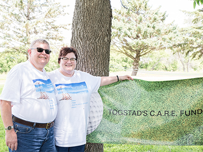 """Cancer is my passion,"" Barb Togstad said, saying she was born to serve others. Togstad donates her earnings to people with cancer. (701) 952-1050."