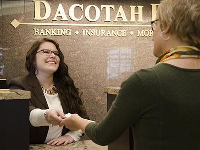 Dacotah Bank donated $25,000 to the JRMC Cancer Center.