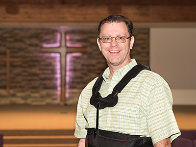 Pastor Shawn Bowman, of Victory Lutheran Church, recommends JRMC Orthopedics and Emergency Department after fall off ladder shatters wrist and breaks back.