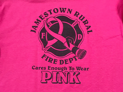 Each year, the 32 members of the Jamestown Rural Fire Department work together to show support for women's health causes. (701) 952-1050.