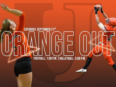 The University of Jamestown is holding an Orange Out for JRMC Hospice on Sept. 21, 2019, to celebrate the life of Jimmie supporter, Tam Braunberger.