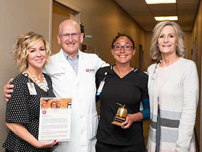 JRMC announced MeLisa Roaldson, registered nurse, as its most recent Legend Award recipient. This is the most prestigious distinction for a JRMC employee.