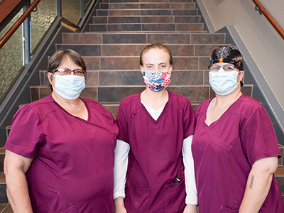 JRMC Environmental Service Technicians, Melia Cotton, Wanda Hoff and Caitlyn Bender, received their accreditation for Certified Health Care Environmental Services Technician (CHEST).