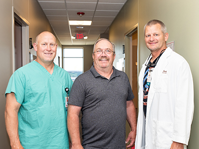 When Art Hagebock, LaMoure, N.D., tore a meniscus in his knee, Hagebock chose Dr. Michael T. Dean, orthopedic surgeon at Jamestown Regional Medical Center.