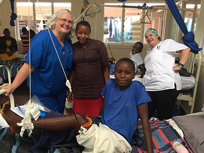 With the help of JRMC Orthopedic Surgeon Dr. Timothy Volk, Penny Briese walked without crutches the day after surgery on a torn meniscus and hiked Africa.