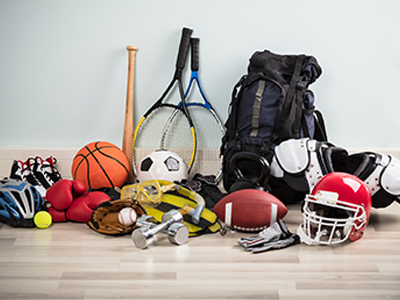 Image of sports equipment used by athletes to help them avoid joint pain or injuries